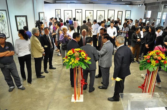 Dignitaries and VIPs at the solo exhibition